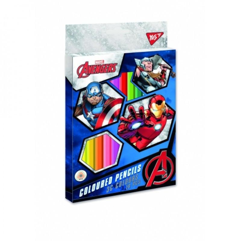 290607 Цветные карандаши Marvel 18шт / 36 цветов тм YES
