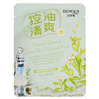 Тканинна маска для обличчя Bioaqua Natural Green Tea Extract Oil Control Mask