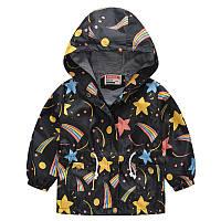 Детская куртка ветровка с принтом космос