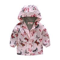Детская куртка ветровка с принтом бабочки