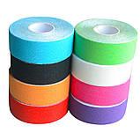 Кинезио тейп Kinesiology Tape 2,5 см х 5м, фото 6