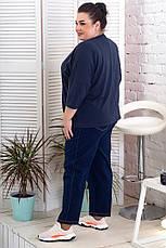 Женские джинсы укороченные супер батальные со строчками, фото 3