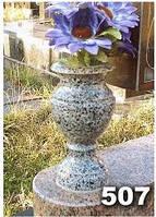 Гранитные вазы для надгробных памятников образец № 507