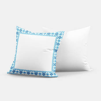 """Подушка """"Українська традиція"""" SD012 квадрат 35х35 ромб синий"""
