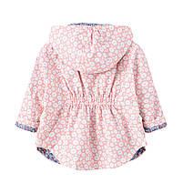 Детская куртка для девочки с принтом цветочки, фото 2