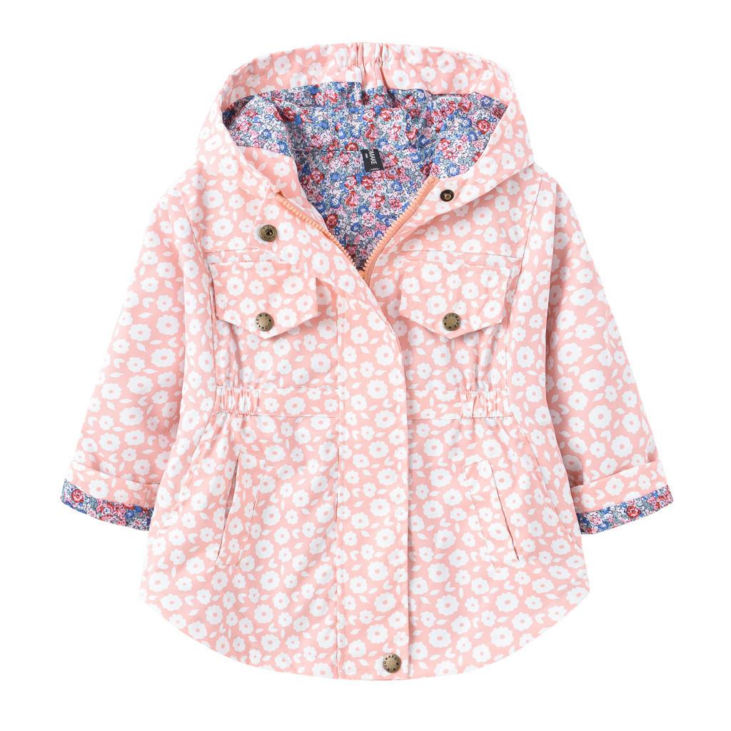 Детская куртка для девочки с принтом цветочки