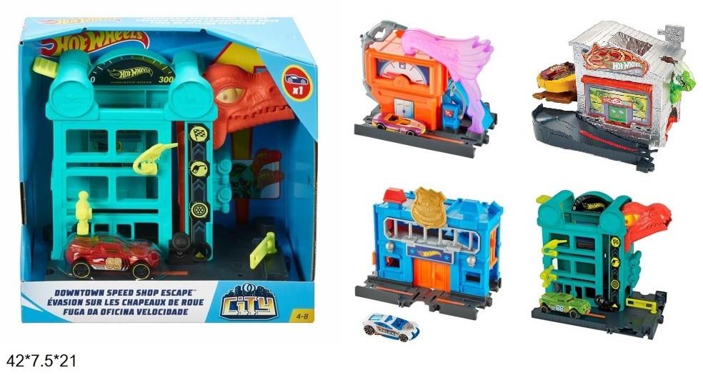 KMFRH28 Паркінг Hot Wheels Незвичайні пригоди в місті з метав.машинкою 4в.кор.42 * 7,5 * 21/32 /