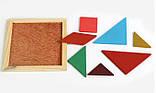 Різноколірний пазл-головоломка для дітей Танграм, фото 4