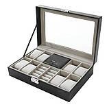 Скринька органайзер для зберігання годинників, фото 3