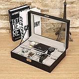 Скринька органайзер для зберігання годинників, фото 9