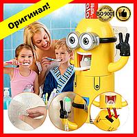 Автоматический дозатор для зубной пасты с держателем для щеток миньоны, детский держатель щеток