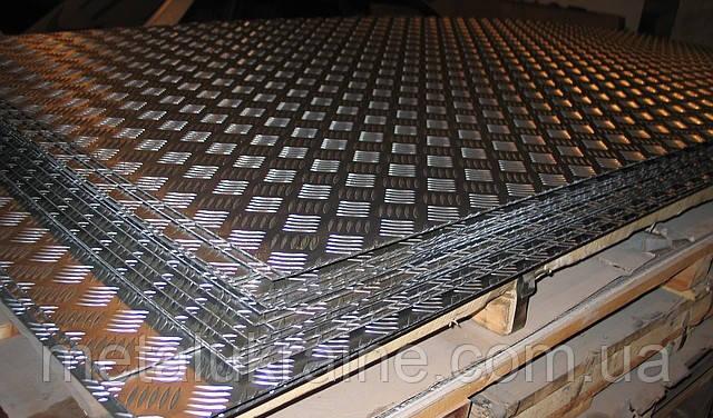 Лист алюминиевый рифленый 3х1500х4000 квинтет