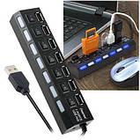USB 2.0 HUB (разветвитель) на 7 портов HB27, фото 3