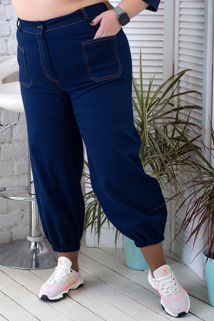 Модные батальные женские джинсы для полных