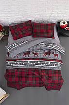 Комплект постельного белья из фланели евро размер ТМ First Choice Happyness Red