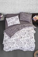 Комплект постельного белья из фланели евро размер ТМ First Choice Rozen Lilac