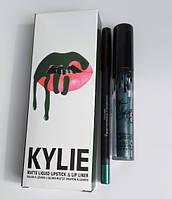 Помада Kylie 8611 набор Матовый блеск KYLIE + мягкий карандаш для губ