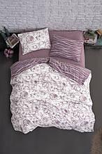 Комплект постельного белья из фланели евро размер ТМ First Choice Rozen Powder