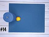 Кольорова вощина для виготовлення свічок, синій, лист 20х26 см, фото 2