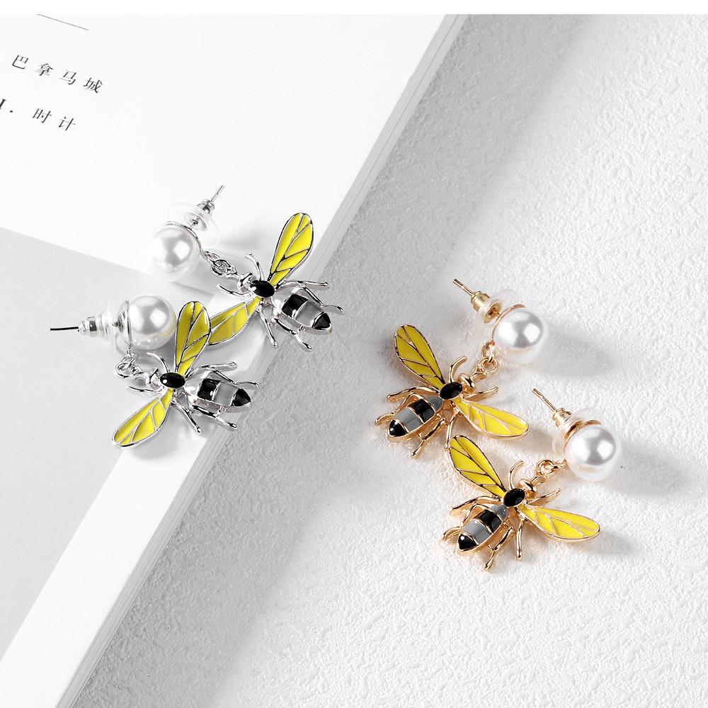 Сережки BEE c перлами