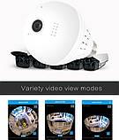 Панорамна Wi-Fi IP-камера 360° (лампа) EC75B-P12, фото 5