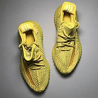 Модные кроссовки изи , Мужские демисезонные кроссовки Adidas Yeezy Boost , Весенняя обувь , желтые