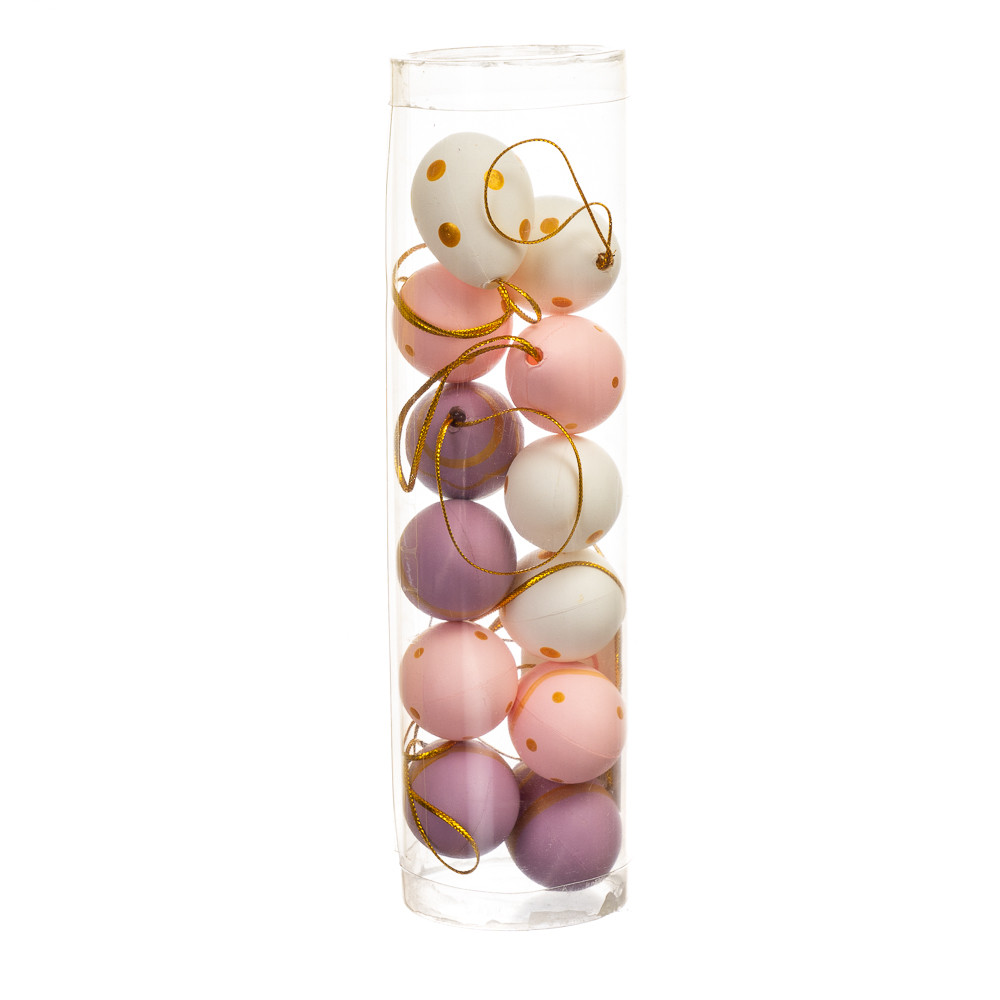 Крашанки декоративні пурпурно-рожеві 12 шт (4,5*3 см) (5001-003)