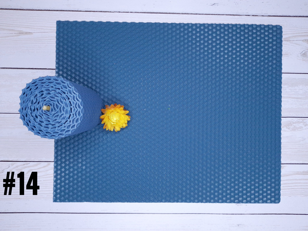 Кольорова вощина для виготовлення свічок, синій, лист 26х41 см