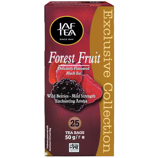 Чай в пакетиках черный JAF Лесные Ягоды 25 п.