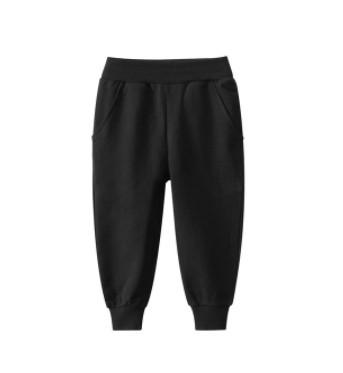 Дитячі спортивні штани на манжеті - чорні