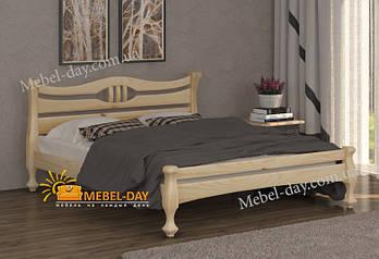 Кровать двуспальная деревянная Даллас МФ Wellmebely