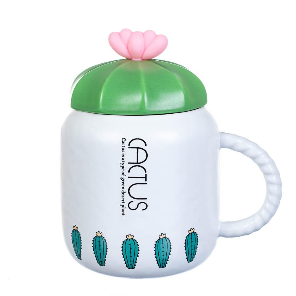 """Чашка """"Кактус"""" 400мл *рандомный выбор дизайна (8200-010)"""