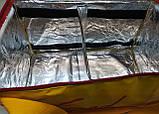 Термосумка для суші, їжі, напоїв. Сумка для доставки страв, суші, напоїв з боковим кишенею. ПВХ покриттям, фото 4