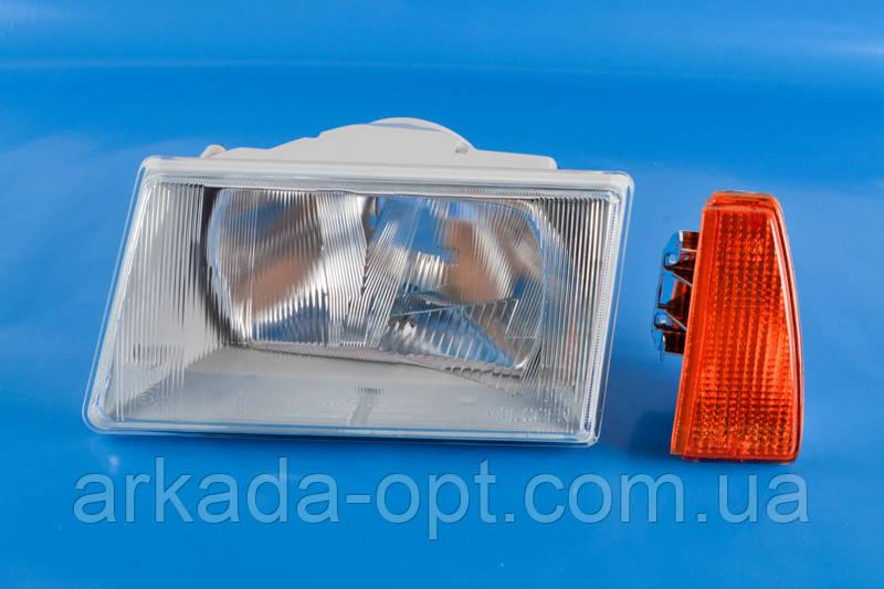 Фара СЕВиЕМ ВАЗ 2108, 21083, 2109, 21099 левая и желтый поворот (025096)