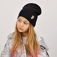 Чорна шапка універсального розміру для дітей і дорослих
