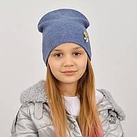 Оригінальна дитяча шапка з ангори для дівчинки