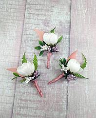Бутоньерка свадебная в любом цвете