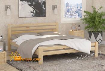 Кровать двуспальная деревянная Премьера МФ Wellmebely