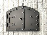 "Дверца для хлебной печи арочная метал ""3"" мм . 330х430мм"