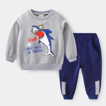 Детские костюм для мальчика с принтом акулы