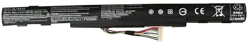 Аккумулятор для ноутбука Acer AL15A32 Aspire V3-574 / 14.8 V 2500mAh / Original Black