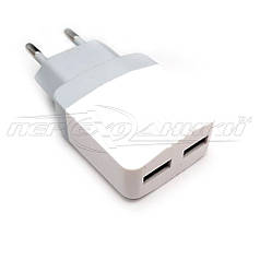 Сетевое зарядное устройство USB 5V, 2.4 A (2USB)