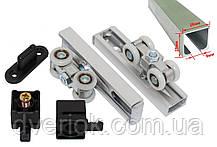 Раздвижная система для межкомнатных дверей EKF ESW-120100 (40кг) с 2 м профилем