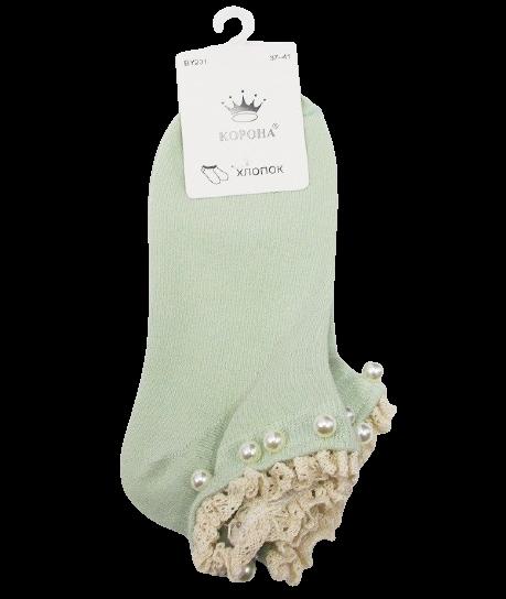 Шкарпетки з намистинками Корона 231 37-41 зелені