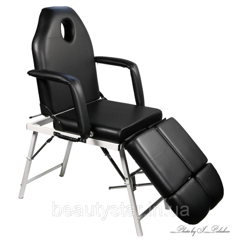 Кресло кушетка для педикюра для наращивания ресниц кресло-кушетка портативная переносная раскладная  ZD802AFM