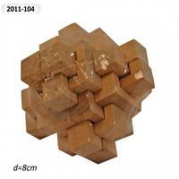 Деревянная головоломка 2011-104, 8см