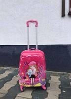 Дитяча валіза на коліщатках для дівчинки рожевий