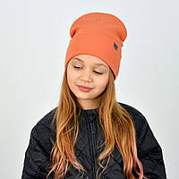 Повсякденна бавовняна дитяча шапка з відворотом