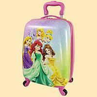 Дитячий пластиковий чемодан для дівчинки Принцеси Disney