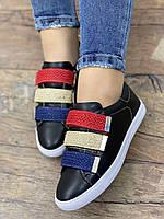 Кросівки жіночі 6 пар в ящику чорного кольору 36-40, фото 7